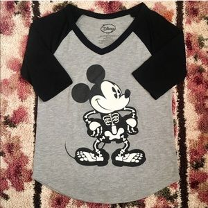 Disney Halloween Mickey Mouse Skeleton T-Shirt 🎃